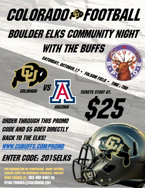 Boulder Elks with CU Buffs (Arizona)